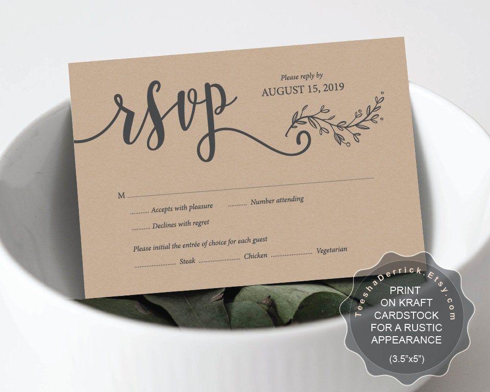 Wedding Invitation Rsvp Card Template Editable Pdf Instant Downlo Wedding Invitations Rsvp Cards Wedding Invitations Rsvp Instant Download Wedding Invitations