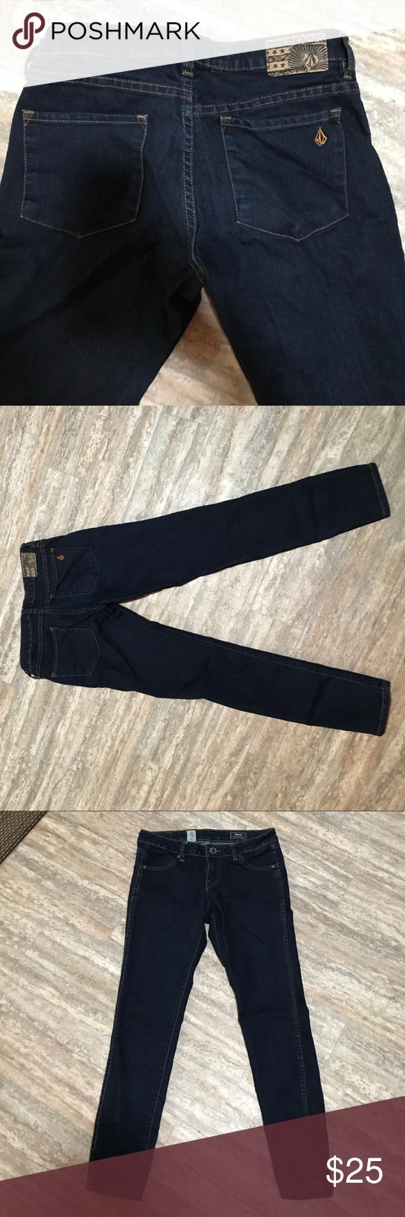 Volcom skinny jeans 👖 size 27 new New Volcom skinny railed shortie legging fit jeans size 27 Volcom Jeans Skinny