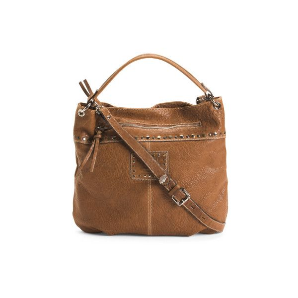 Made In Italy Texas Leather Hobo 104 Liked On Polyvore Featuring Bags