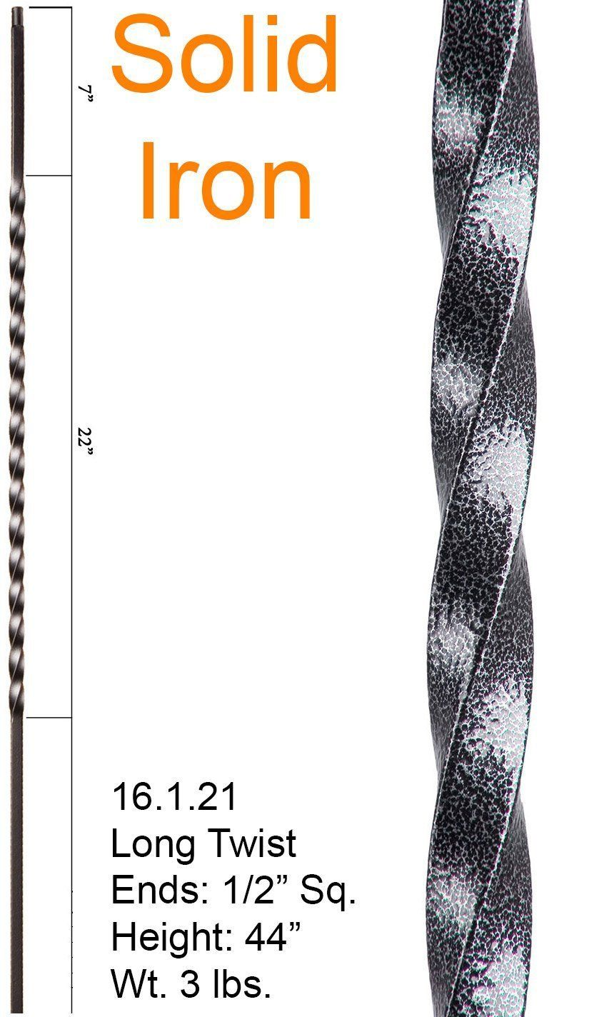 Silver Vein 16.1.21 Long Twist Iron Baluster for Staircase Remodel, Box of 5 - - Amazon.com