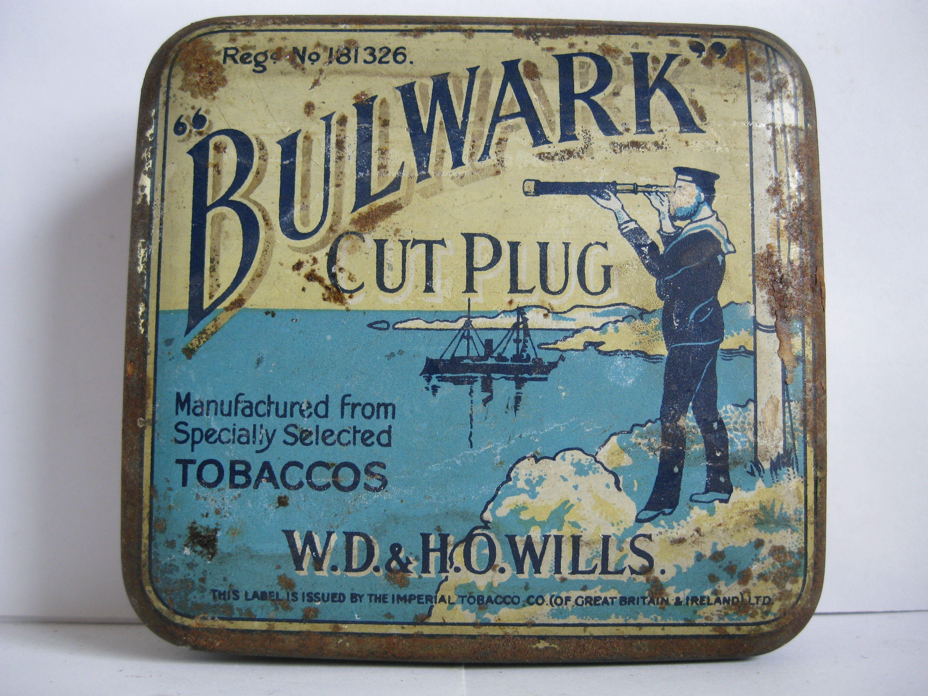 """""""BULWARK"""" Tobacco tin"""