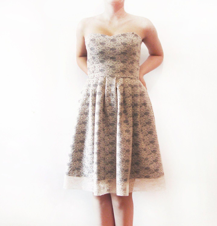 Navy Dream Ivory Lace, Dark Navy Cotton, bridesmaid
