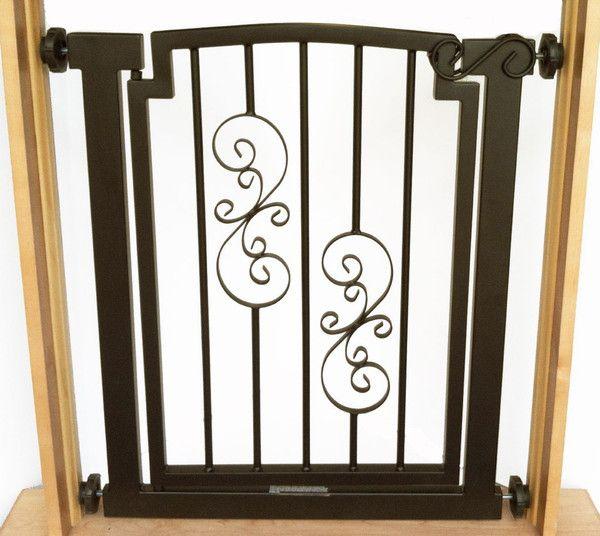 Estate Scroll Pressure Mount Dog Gate Dog Gate Pet Gate Decorative Dog Gates