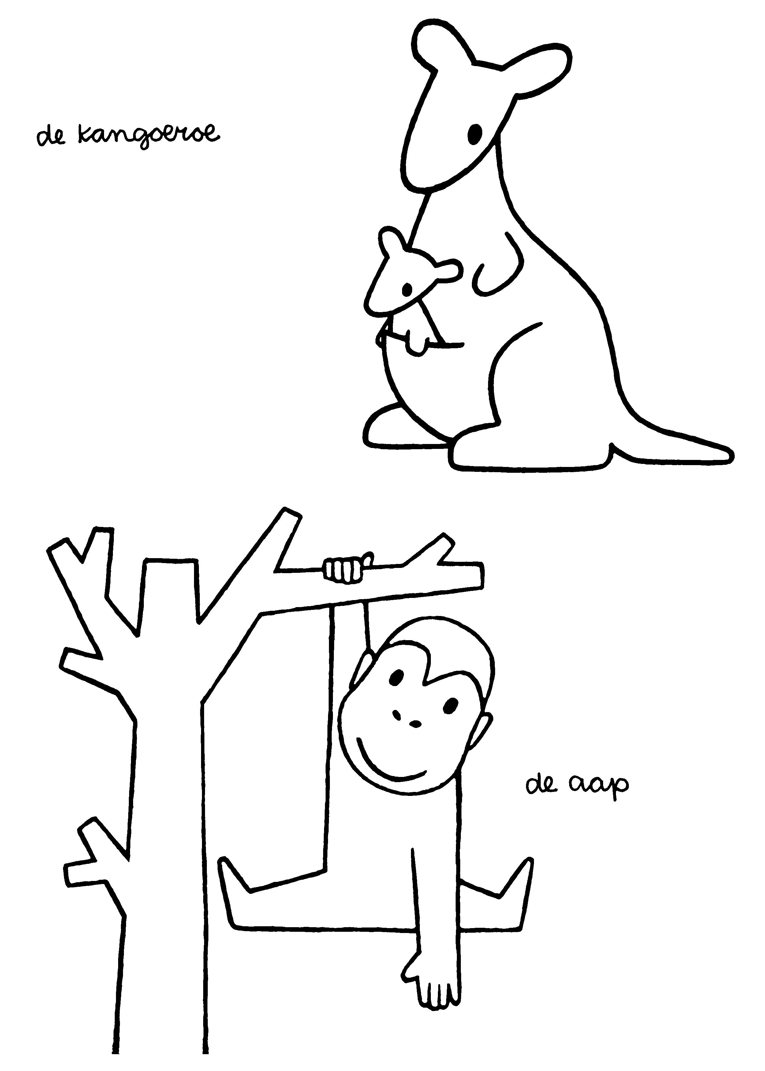 Kangaroo dick bruna all pinterest monkey doodle designs and
