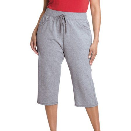 Just My Size Womens French Terry Capri