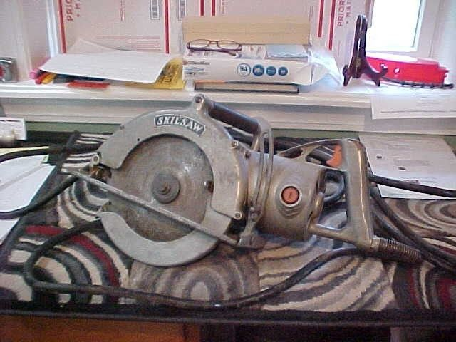 Vintage Skil Skilsaw Model 107 10 Super Duty Worm Drive Old School 71 Skil Saw Power Saws Vintage