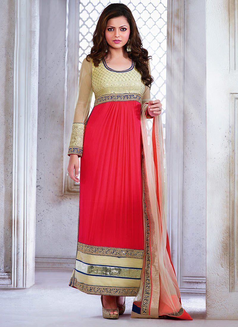 02b7a30477bc Latest Indian Kalidar Suits Best Salwar Kameez 2014-15 Collection ...