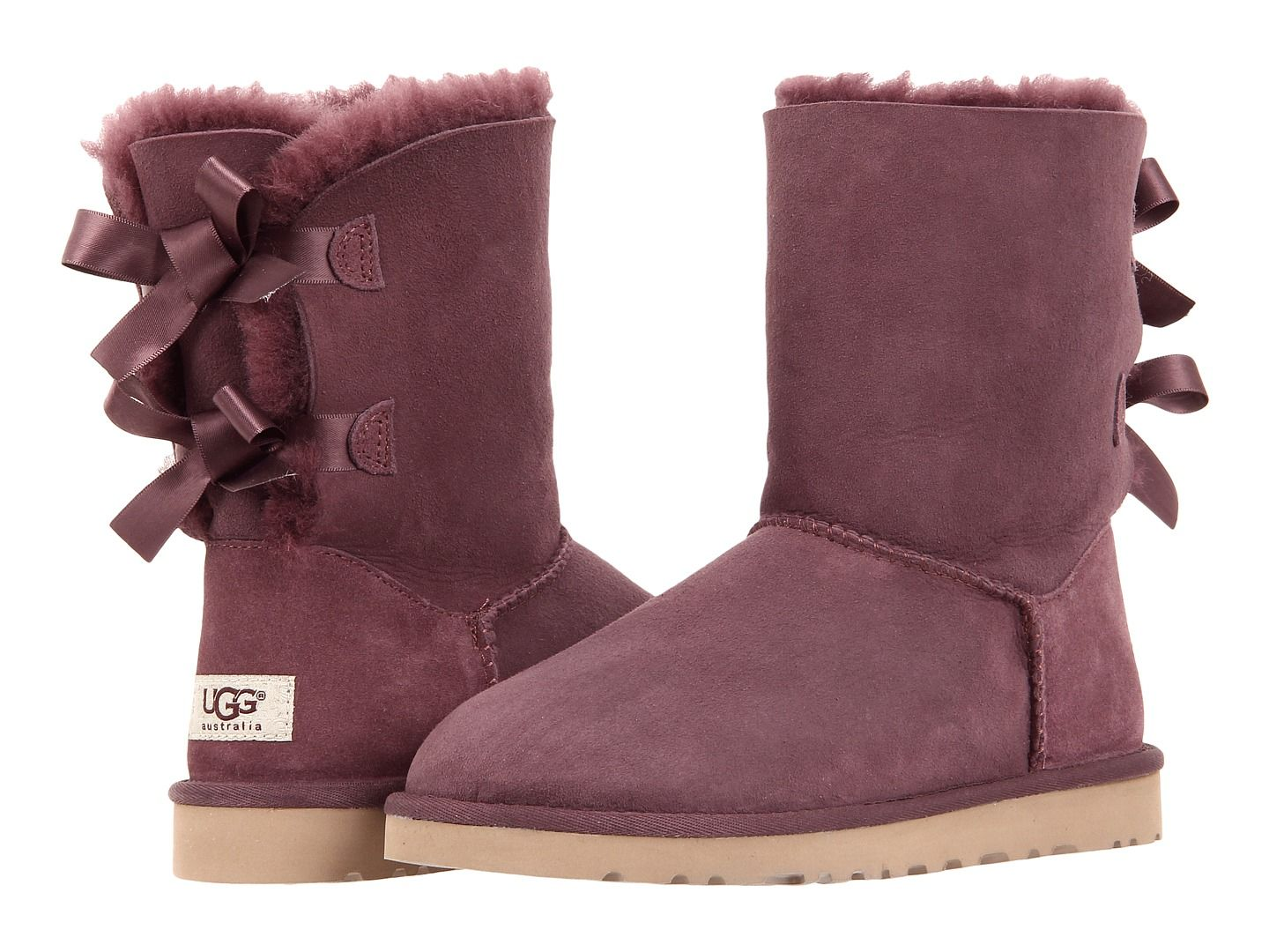 4358bfbbe7b Saw this on @Zappos_Mobile! Ugg boots Bailey bow Deep Bordeaux size ...