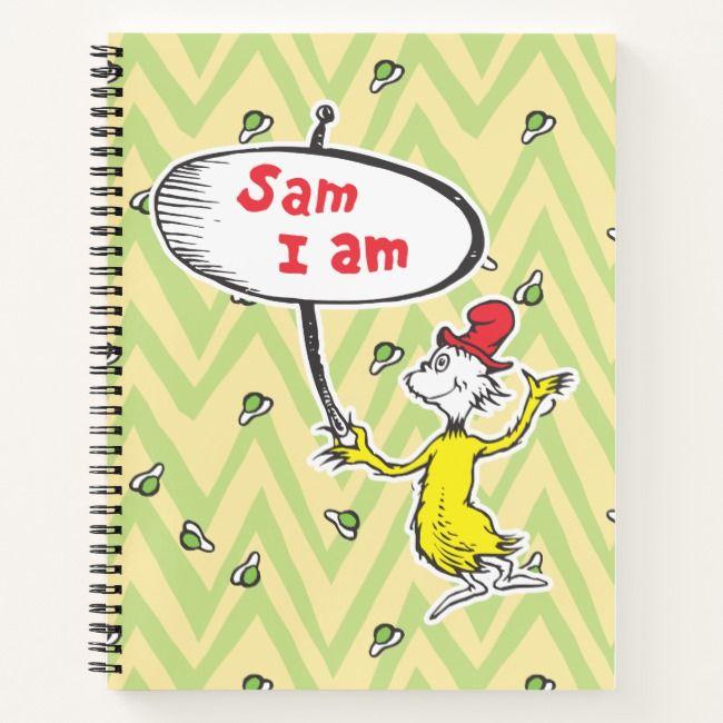Sam-I-Am Holding Sign Notebook