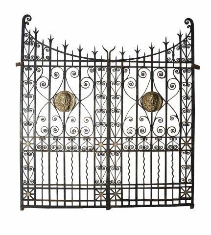 19th C Wrought Iron And Bronze Driveway Gates Driveway Gate