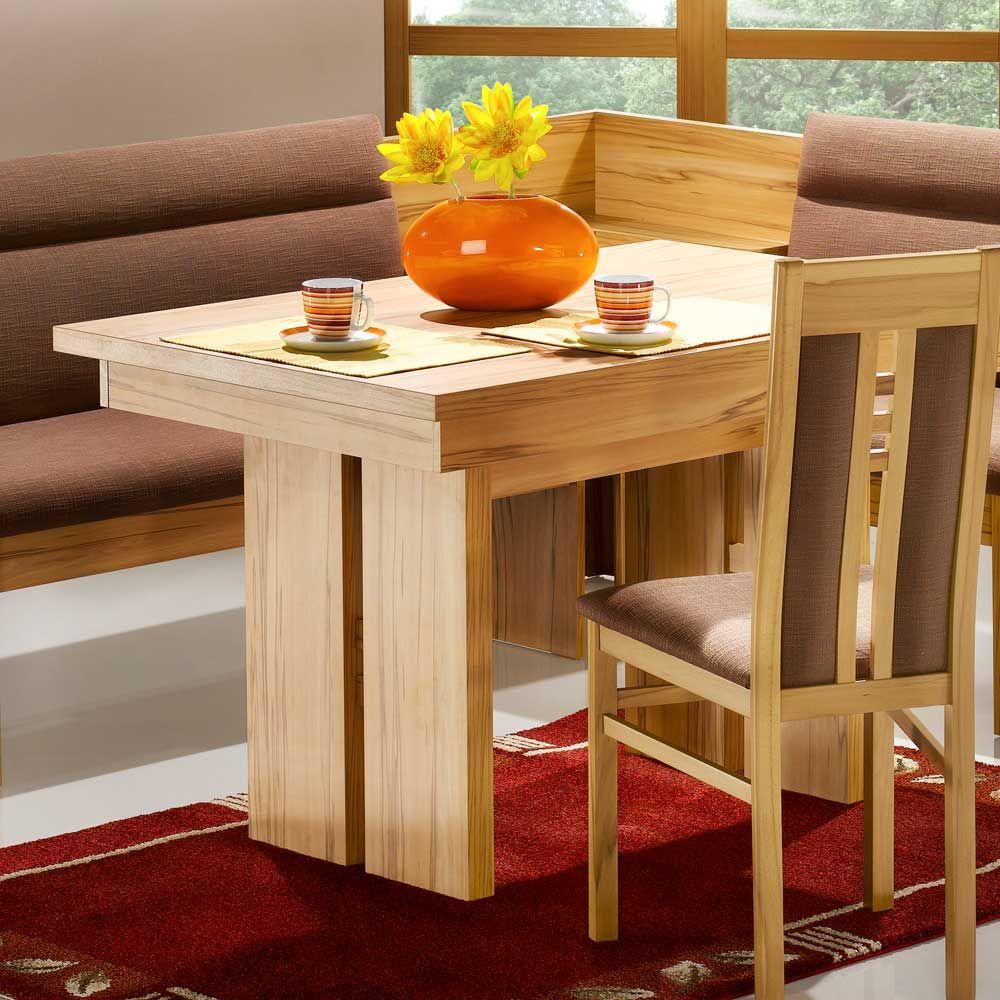 Säulen Esstisch in Kernbuchefarben modern küchentisch,esszimmertisch ...