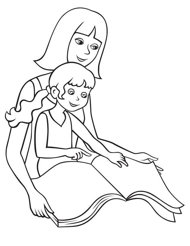 People And Places Coloring Pages Mom Coloring Pages Mother S