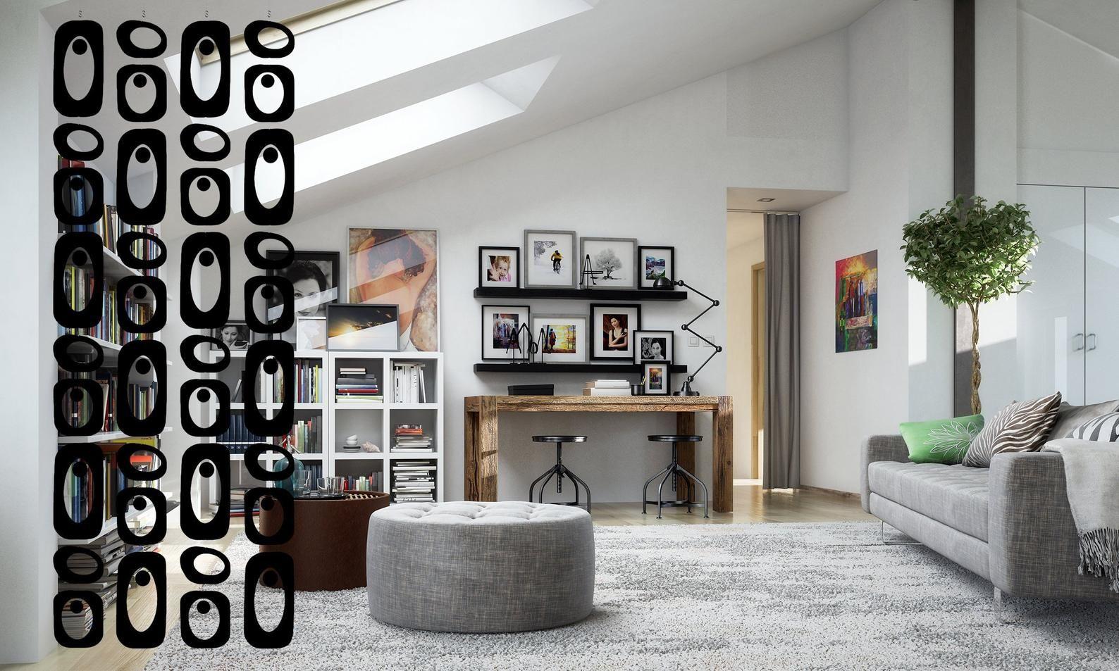 Mod Black Room Divider Mid Century Inspired Room Dividers Etsy