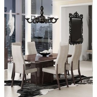 Luca Home Walnut Wood Dining Table  Shop Frees And Online Cool Dining Room Furniture Outlet Stores Design Inspiration