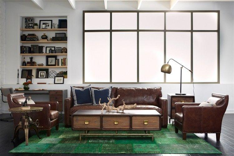 Wohnzimmer Farbe Braun Kombinieren Grün Teppich #brown #interior