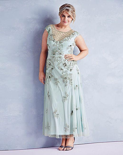 291093e9340 JOANNA HOPE Embellished Maxi Dress