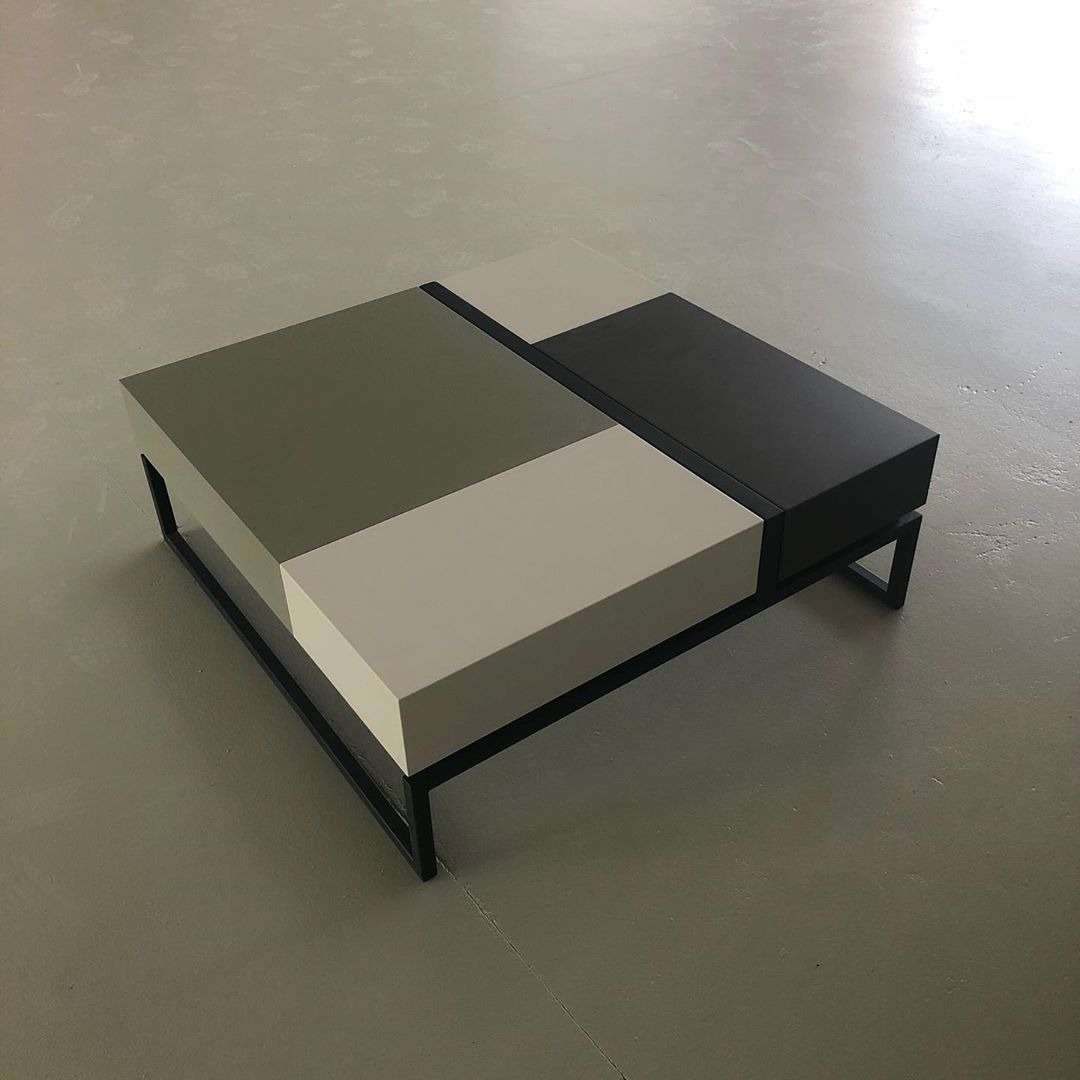 Blokk Our Coffee Table With Sliding Top And Storage Space Inside You Can Create Your Own Set Of Colours Us Exclusive Furniture Coffee Table Storage Spaces [ 1080 x 1080 Pixel ]