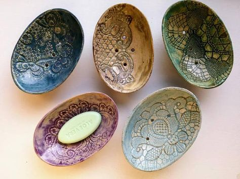 multicolor oval ceramic soap dish with lace, for bathroom decor, kitchen accessories