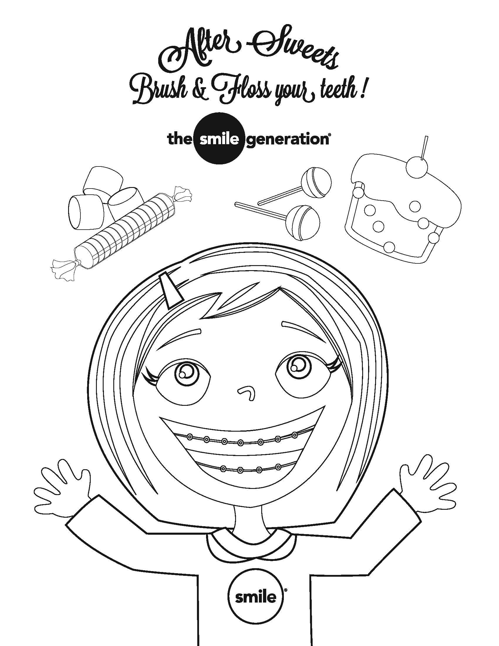 Teeth Coloring Pages Rock Your Smile It S National Children S