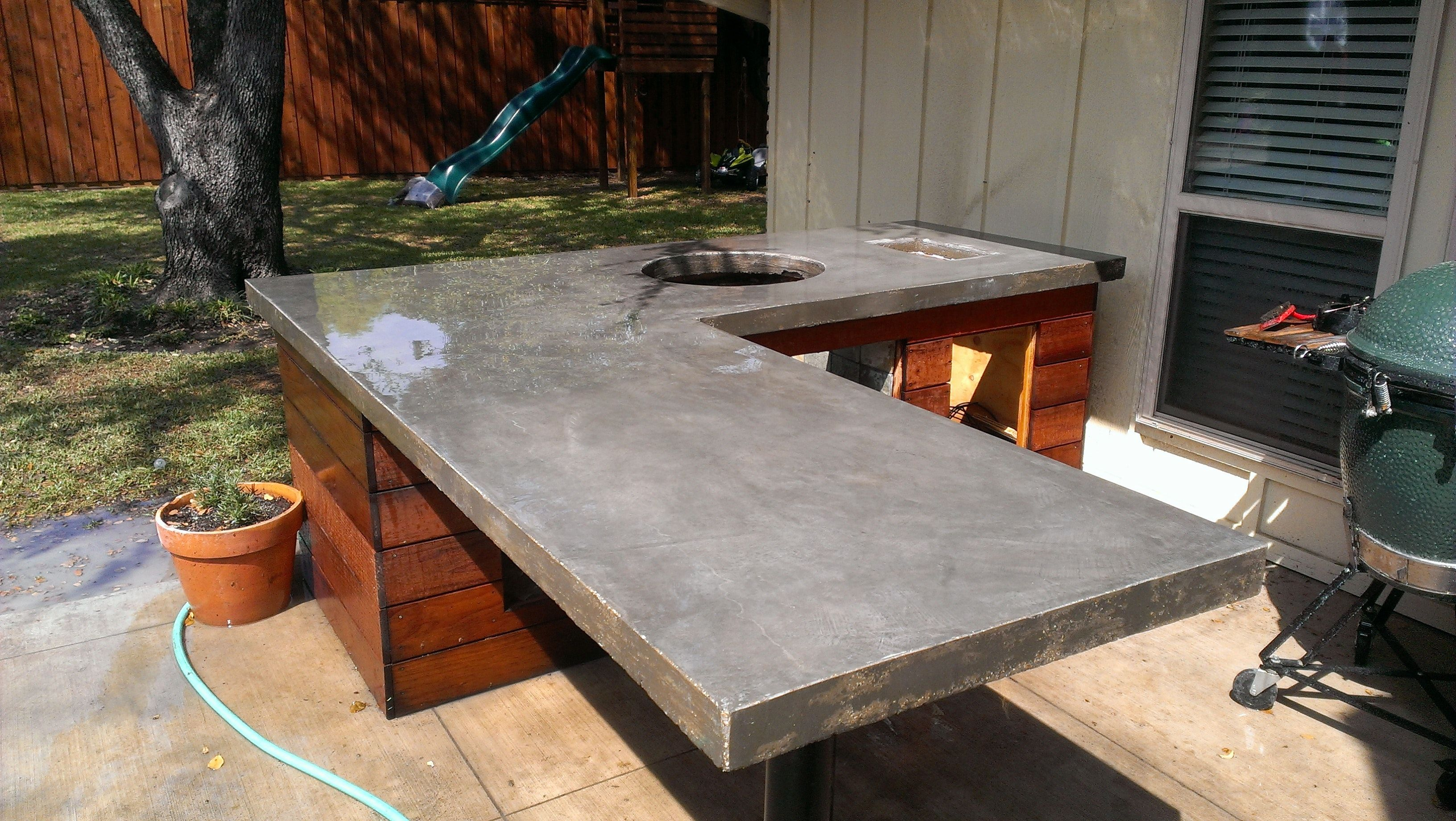 Adding Gl To Concrete Countertops