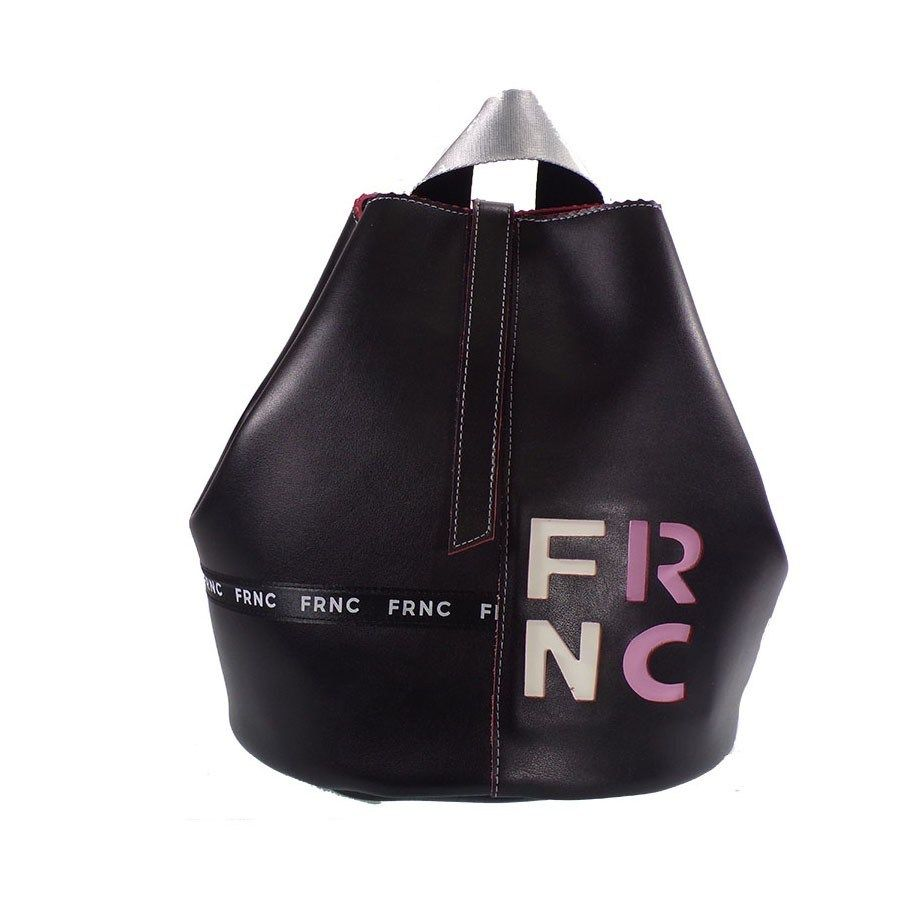 95fc352b09 FRNC FRANCESCO Τσάντα Γυναικεία Πλάτης-Backpack 1235 Μαύρο Δέρμα  https   www.