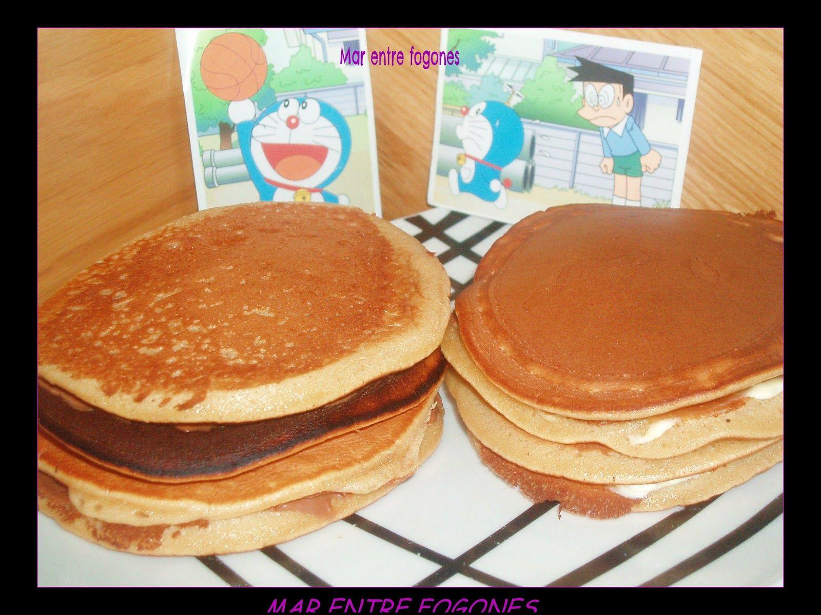 MAR ENTRE FOGONES: DORAYAKIS (como los de Doraemon)