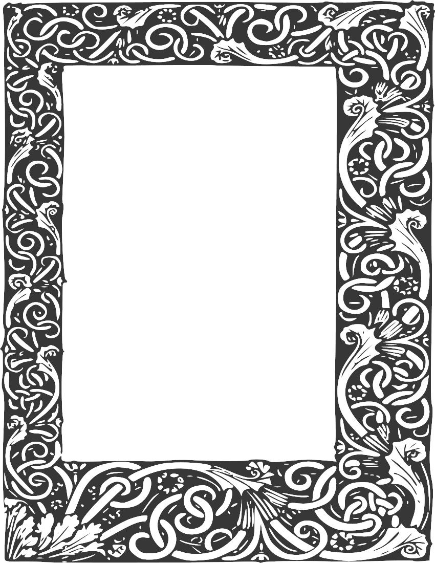 Gothic Clipart Borders 22 850 X 1100 Dumielauxepices Net Frame Clipart Free Clip Art Frame Border Design
