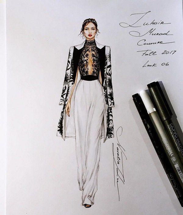 Photo of Fashion Illustrations by Natalia Zorin Liu | Cuded