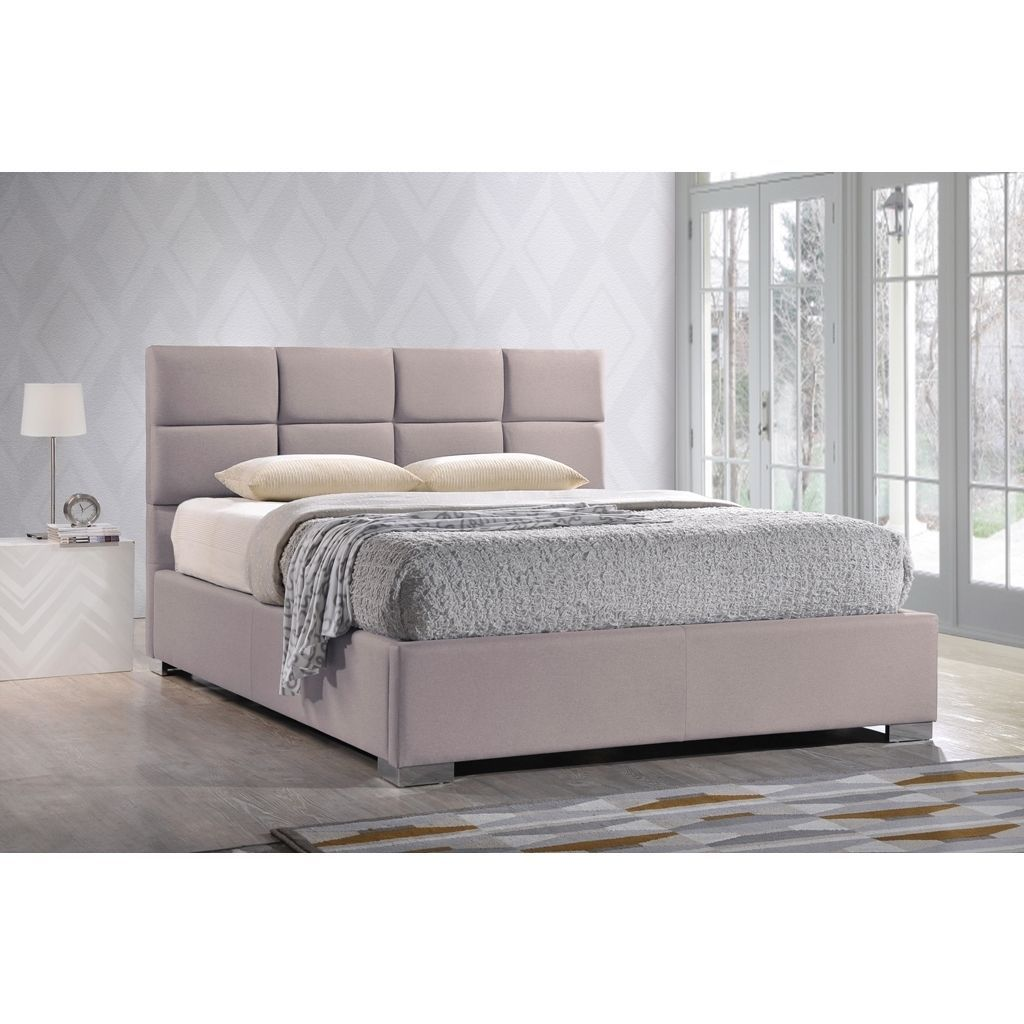 Lacquered Made in Spain Wood High End Platform Bed with Wave ...