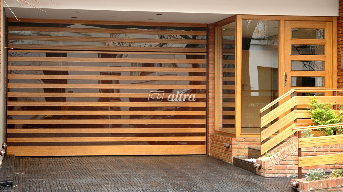 Resultado de imagen para portones levadizos dise os madera for Puertas y portones de madera