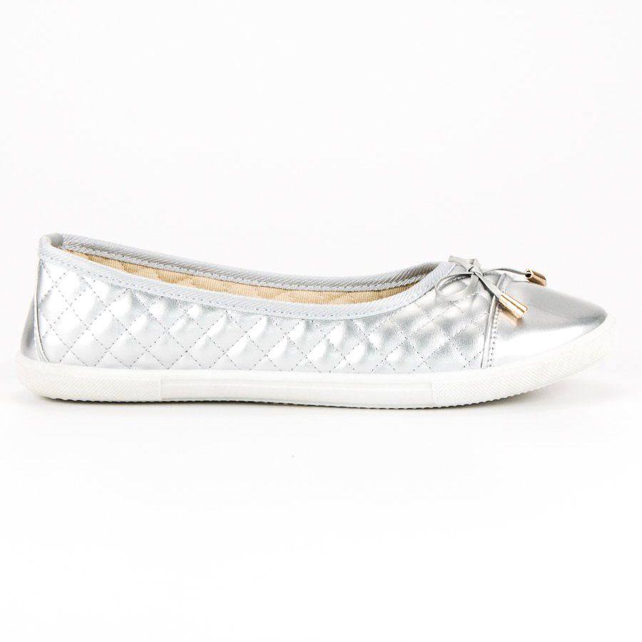 Pikowane Baleriny Szare Vans Classic Slip On Sneaker Vans Classic Slip On Slip On Sneaker