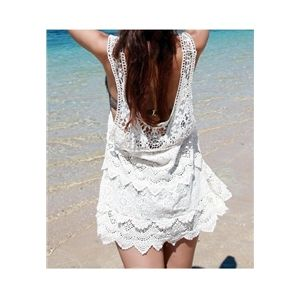 Pariscoming Crochet Beach Wear Bikini Vest Blouse | pariscoming
