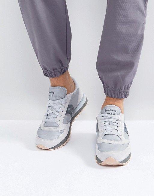 new product 53934 9dd73 Saucony Jazz Original Windbreaker Sneakers In Gray S70353-1 ...