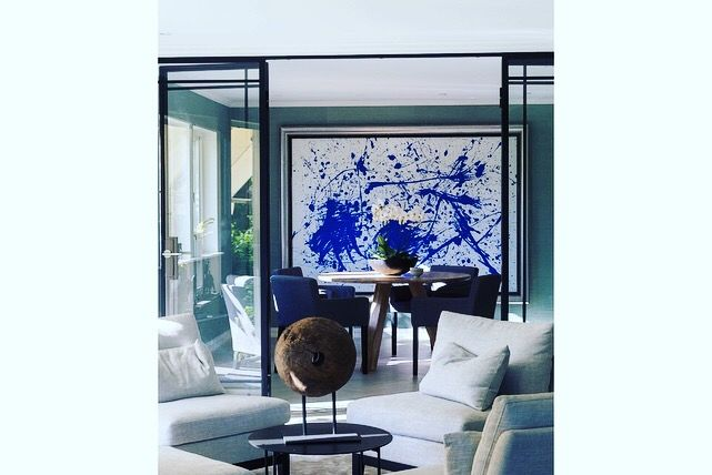 Glass doors with steel frame