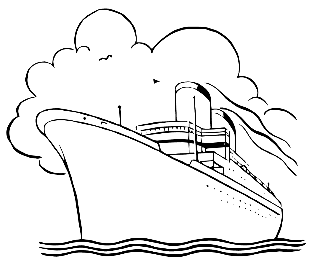 Free Vector Art Cruise Ship In