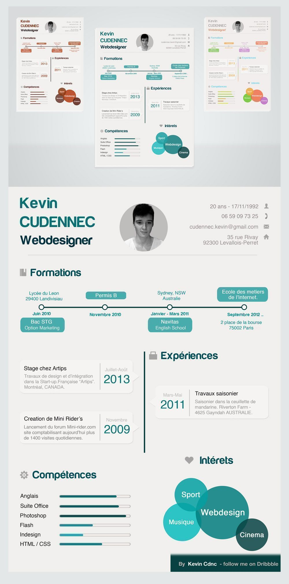 Cool 15 Best Free Resume CV Templates PSD Professionally Designed And Download In Photoshop Format