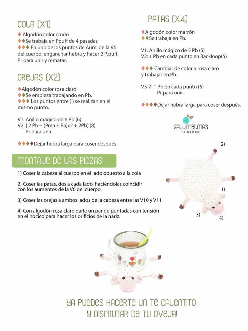 posavasos-crochet-2.jpg (800×1067) | Patrones amigurumi | Pinterest ...