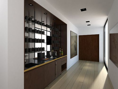Tea Kitchenette In Hall Leading To Master Bedroom | Beverly Hills