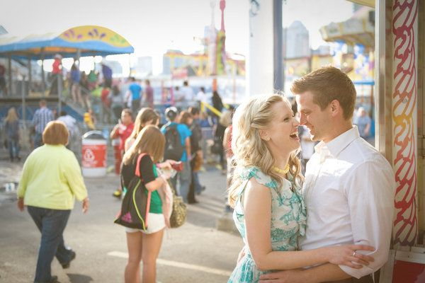 1950's themed engagement shoot. Cute!