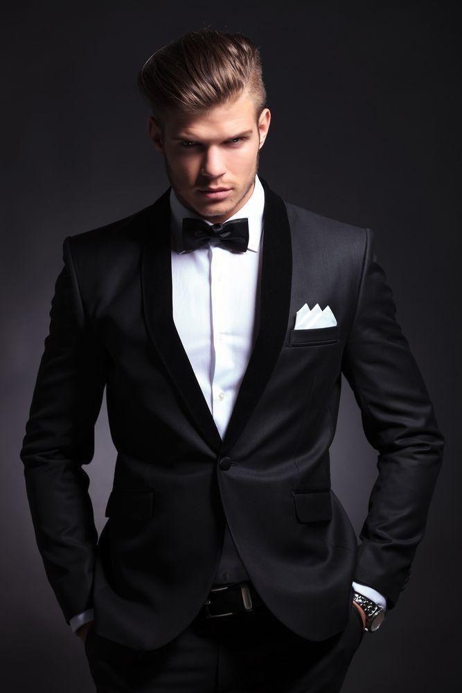 New Best Selling Black Mens Wedding Suits Custom Made Slim Fit ...