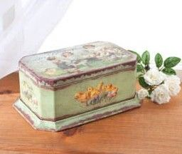 Stunning Antique Look EASTER Candy Tin Box Fab Vintage Graphics Chicks     http://www.nanaluluslinensandhandkerchiefs.com/index.cfm/fa/items.main/parentcat/32902/subcatid/0/id/543702
