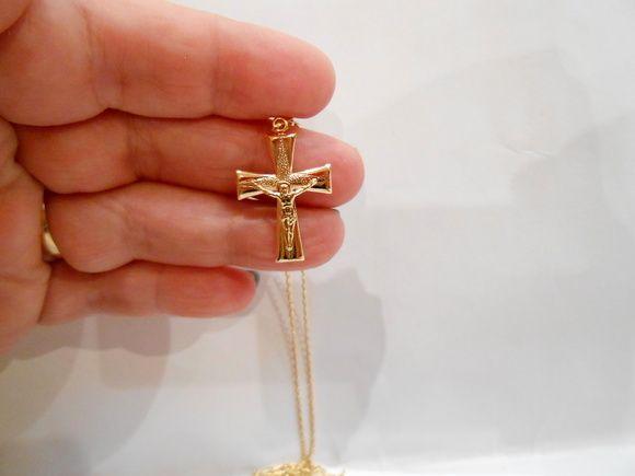 565e795346119 Corrente de 60 cm com pingente 2,50 todos folheados em ouro ( 2 banhos) 18  k. Peça maravilhosa e UNISSEX !! R  35,00