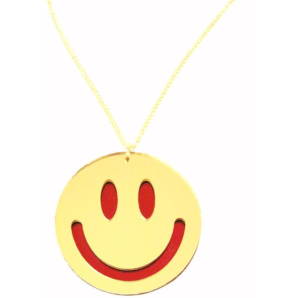 I Love Crafty Smiley Face Necklace ($27) ❤ liked on Polyvore