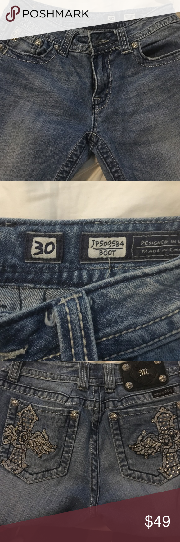 Miss Me Boot Cut Jeans Size 30 Style 5099584 | Stile anni '30 ...
