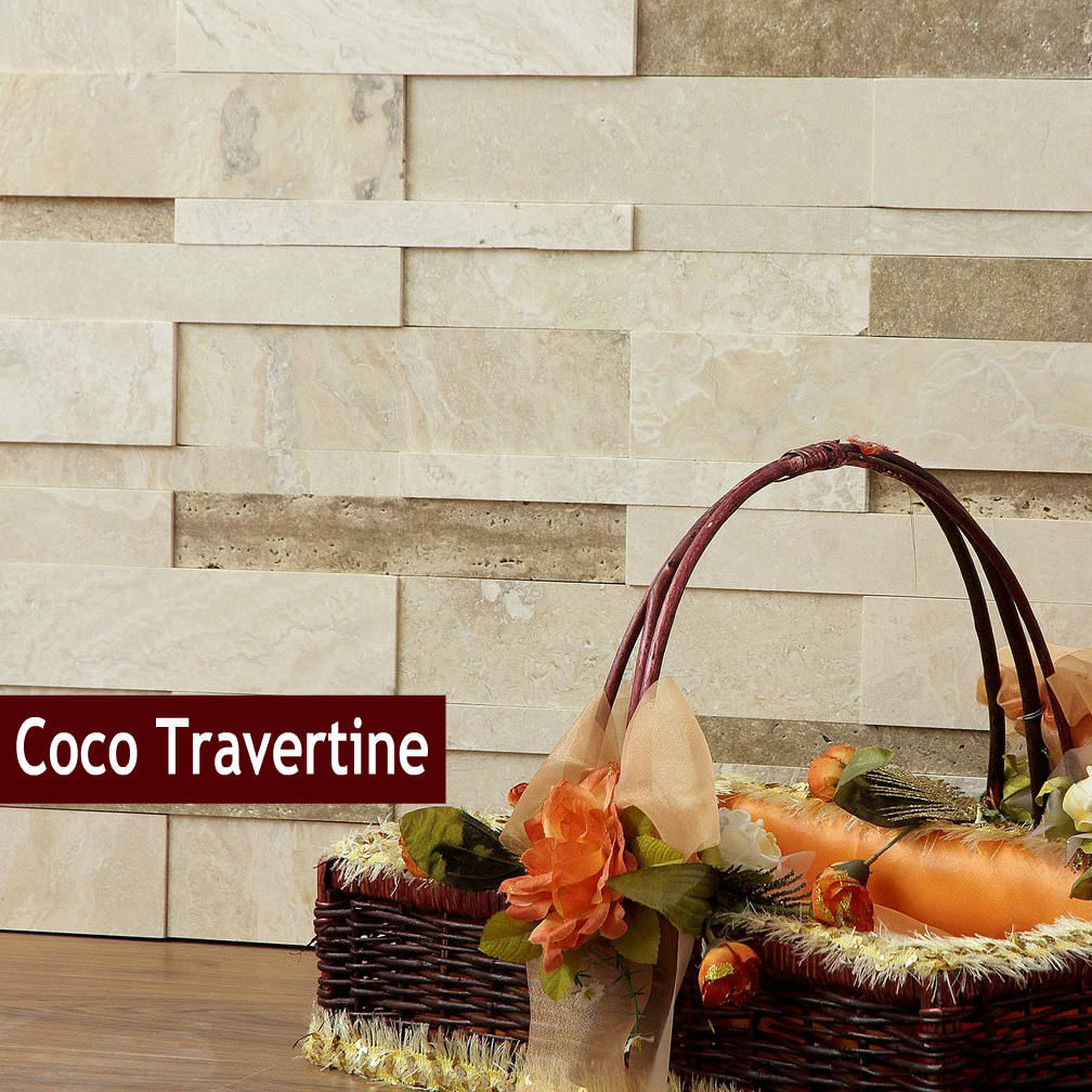 discount glass tile store 3d travertine stone wall cladding coco 985 http