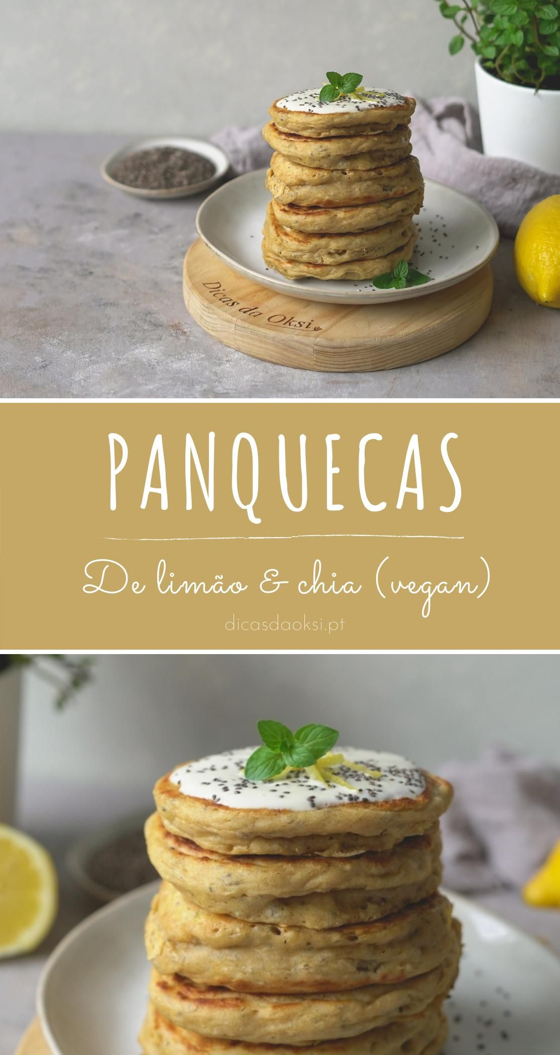 Photo of Panquecas vegan de limão & chia