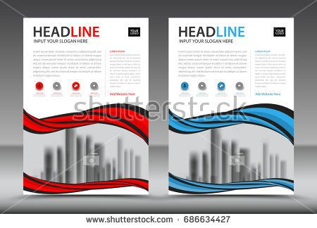 Business Brochure Flyer Template Annual Report Cover Design