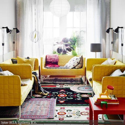 Bunte Teppiche im Hippie- Stil - teppich wohnzimmer bunt