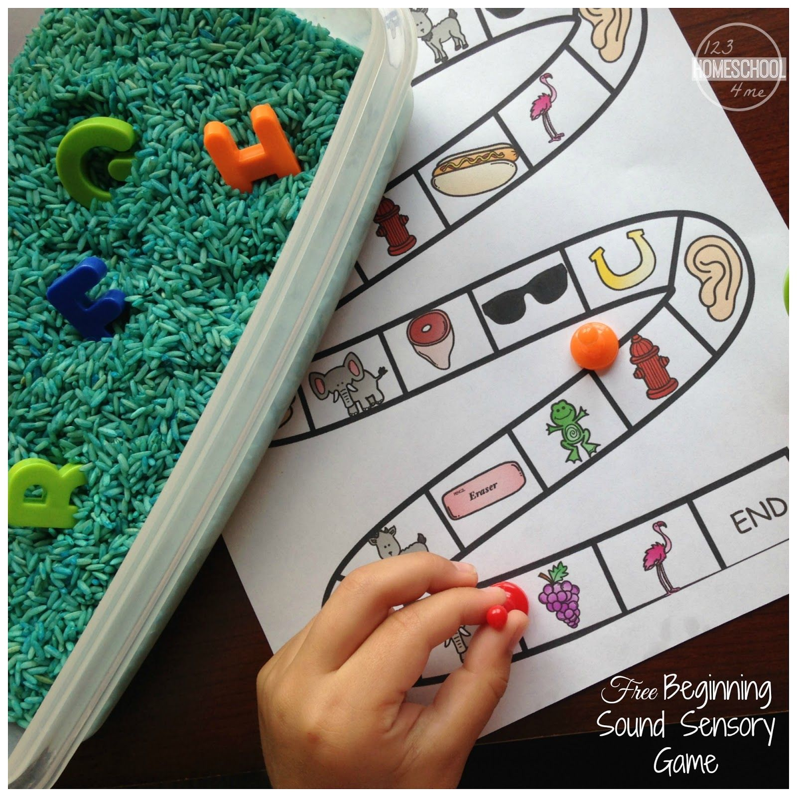Beginning Sound Sensory Alphabet Game