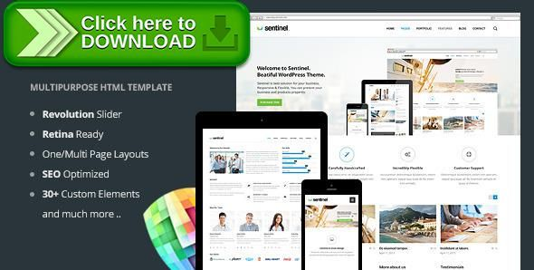 Free Nulled Sentinel Responsive Multi Purpose Template Download Wordpress Theme Wordpress Free Wordpress Themes